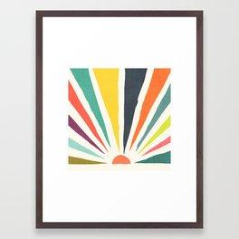 Rainbow ray Framed Art Print