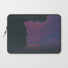 Beirut, Lebanon - Neon Laptop Sleeve