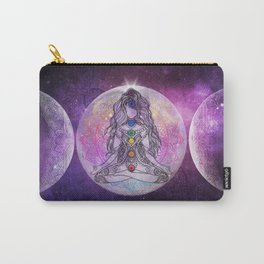 Golden Ascension Galactic Grape Zen - Mandala Carry-All Pouch