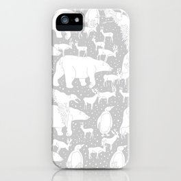 Polar gathering (latte) iPhone Case