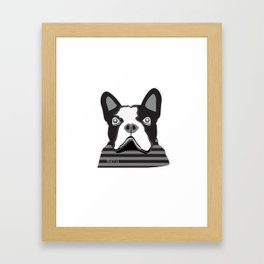 borris the french bulldog Framed Art Print