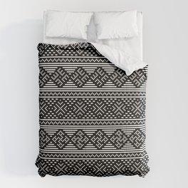 Traditional Ethno Ornament - Ancestors Spiritual Strength - Slavic Horizontal Symbol Comforters