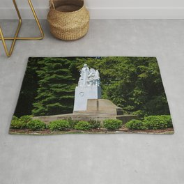 Lourdes University- Our Lady of Sylvania in the Spring (horizontal) Rug