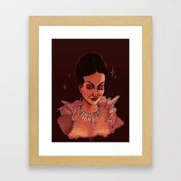 the good queen Framed Art Print