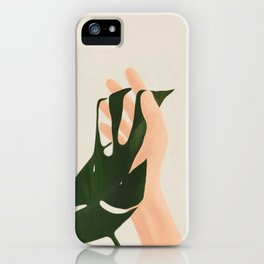 Monstera in Fingers iPhone Case