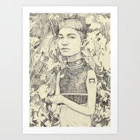 grimes Art Prints featuring grimes by withapencilinhand
