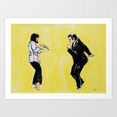 Pulp Fiction 'so dance good' Art Print