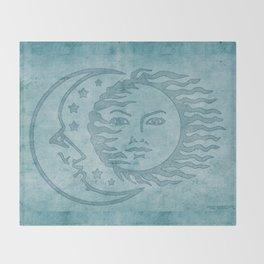 Sun Moon And Stars Batik Throw Blanket