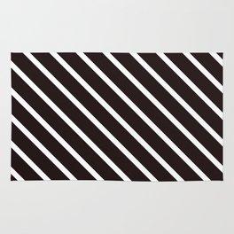 Raw Cacao Diagonal Stripes Rug