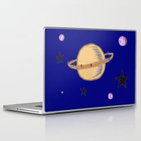 saturn Laptop & iPad Skins featuring Saturn by Probably Plaid