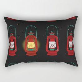 Lit Vintage Lanterns Rectangular Pillow