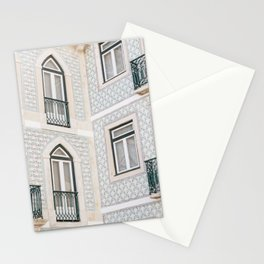 Lisbon tiled wall - Green paterns | Portugal  photo print Stationery Cards