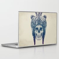 dead Laptop & iPad Skins featuring Dead shaman by Balazs Solti