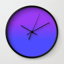 Neon Blue and Bright Neon Purpel Ombré Shade Color Fade Wall Clock