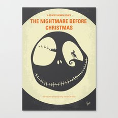 No712 My The Nightmare Before Christmas minimal movie poster Canvas Print