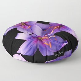 Beautiful Blue Ant Lilies, Flowers Scanography Floor Pillow