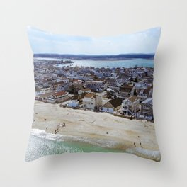 NH Beach Day Throw Pillow