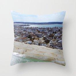 NH Beach Day Throw Pillow