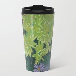 """Yellow chrysantemum"", autumn flowers, floral art Travel Mug"
