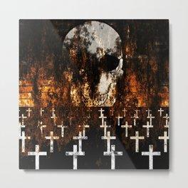 """Death Reigns"" Metal Print"