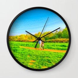 Summer Walks Wall Clock