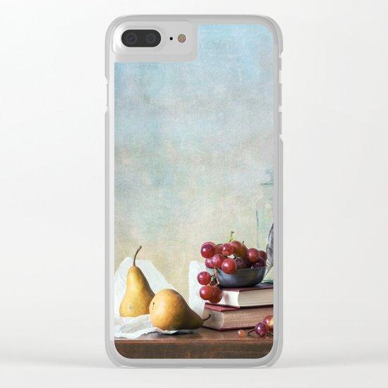 Autumn Pleasures Clear iPhone Case