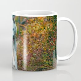Happy Wolf in Forest (Color) Coffee Mug