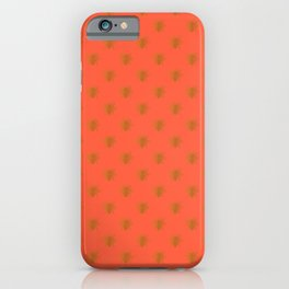 Golden Bees in Faux Metallic Photo Effect Shiny Gold Foil on Coral iPhone Case