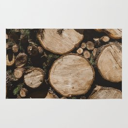 Stacked Logs Rug