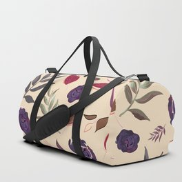 Simple and stylized flowers 19 Duffle Bag