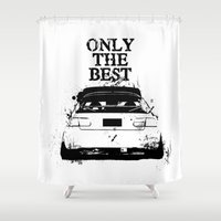 "honda Shower Curtains featuring ONLY THE BEST ""HONDA"" by Consuelo Castaneda"
