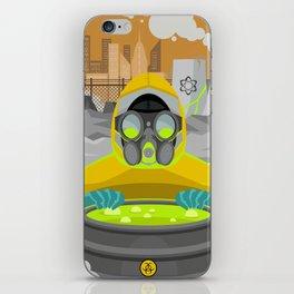 radioactive biohazard suit man on nuclear meltdown iPhone Skin