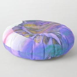 NAUTILUS CONCH SEA SHELL PURPLE IMPRESSIONS Floor Pillow
