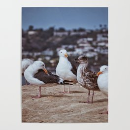 Summer By The Oceanside Poster