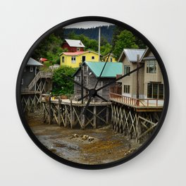 Tides Out - Seldovia, Alaska Wall Clock