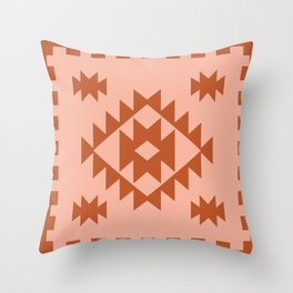 Zili in Peach Throw Pillow