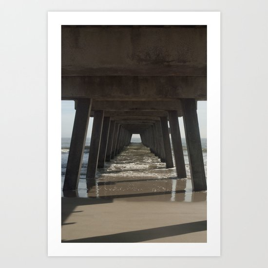 Tybee Island Beach, Savannah, GA Art Print