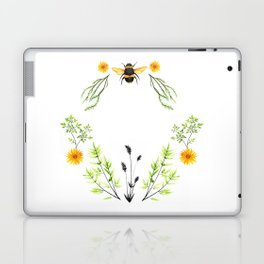 Bees in the Garden - Watercolor Graphic Laptop & iPad Skin