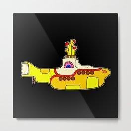 Yellow Submarine - Pop Art Metal Print