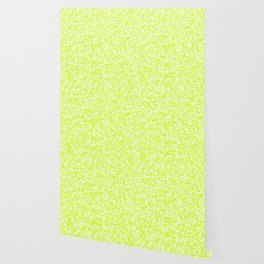 Tiny Spots - White and Fluorescent Yellow Wallpaper