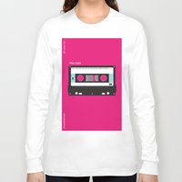cassette Long Sleeve T-shirts featuring Cassette  by JFE ILLUSTRATIONS