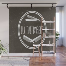 all over barber print Wall Mural