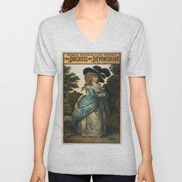 Vintage poster - Duchess of Devonshire Unisex V-Neck
