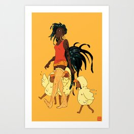 Rooster Mom Art Print