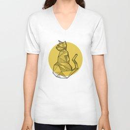 Cat - Geometric Animals Unisex V-Neck