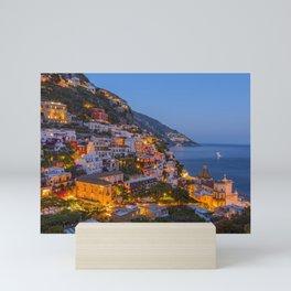 A Serene View of Amalfi Coast in Italy Mini Art Print