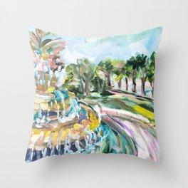 Charleston Pineapple Fountain Throw Pillow