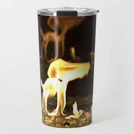 Gas Fire Reflection Travel Mug