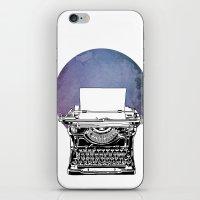 typewriter iPhone & iPod Skins featuring Typewriter by Rebecca Joy - Joy Art and Design