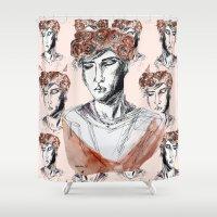 boy Shower Curtains featuring Boy by Anwar B
